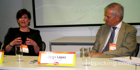María Rey, Executive Director de CELCS y Jorge López, presidente de CEDOL, durante la conferencia de prensa